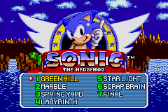 SonicGenesis GBA Comparison LevelSelect.png
