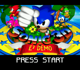 Sonic 3D (cartridge prototype)