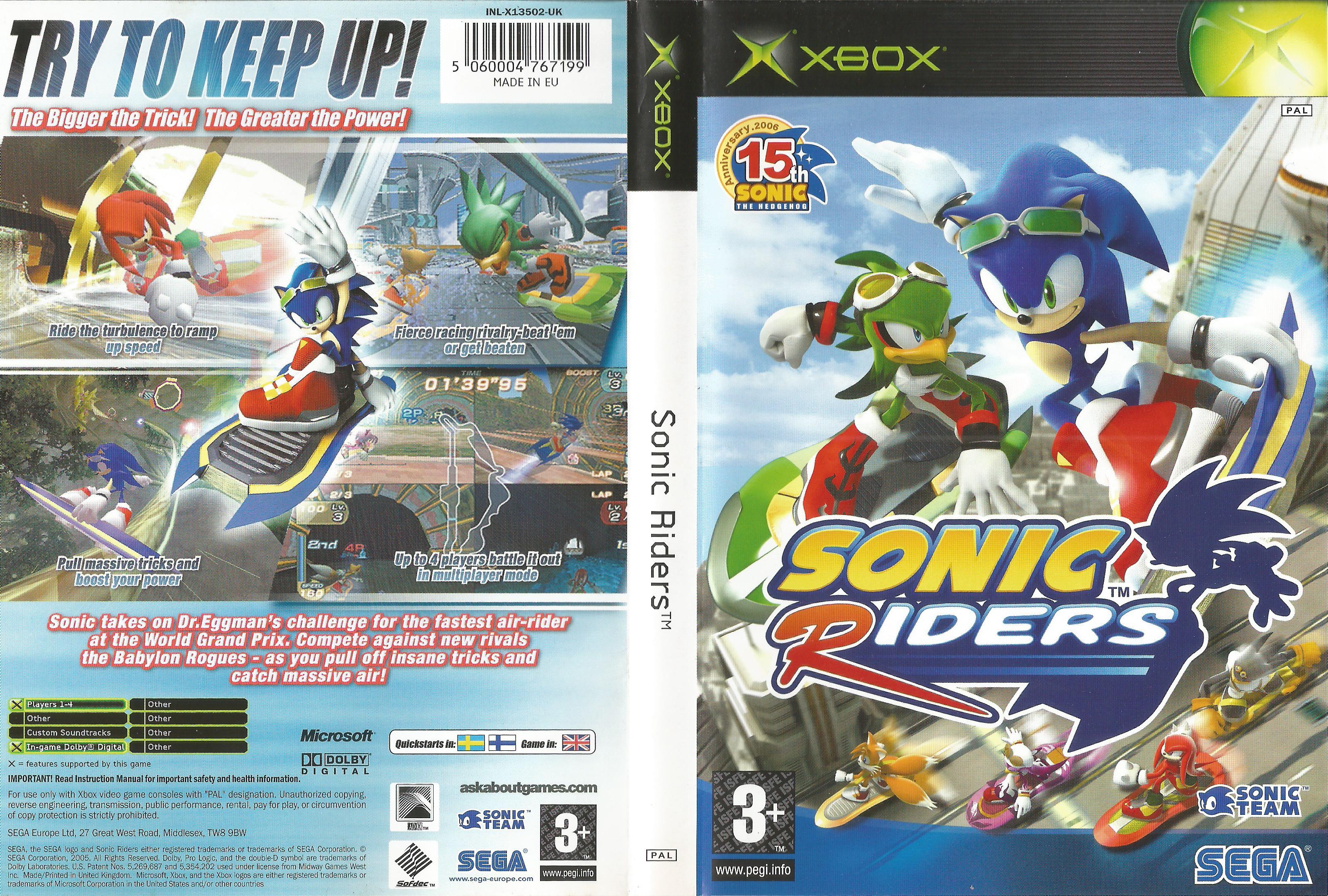 [XBOX360E] Sonic Riders [PAL]
