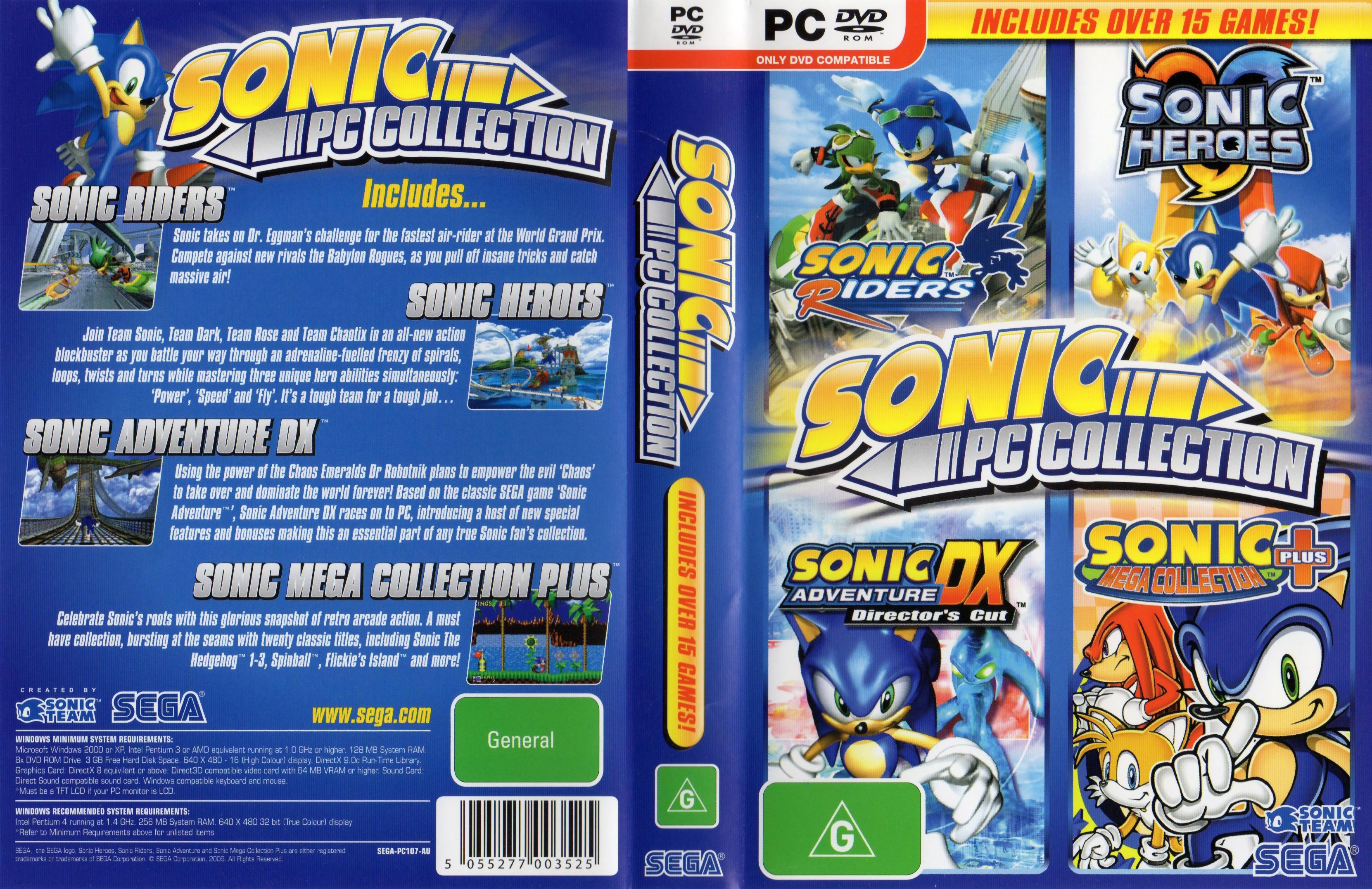 sonic pc games