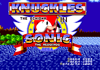 Knuckles The Echidna In Sonic The Hedgehog Sonic Retro
