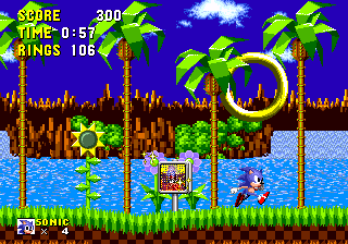 Giant Ring Sonic Retro