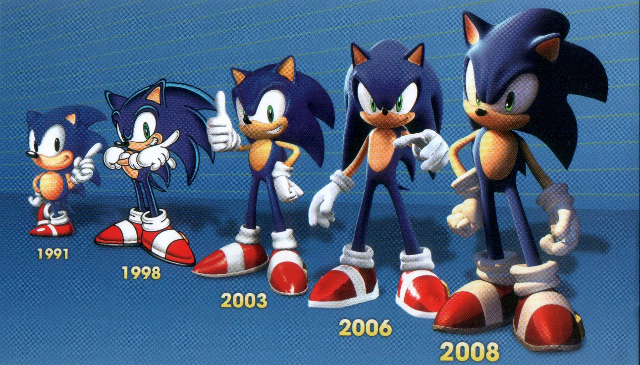 Games and other media featuring Sonic: