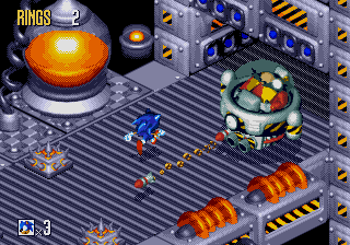 gadget zone boss game sonic 3d flickies island stage gene gadget zone