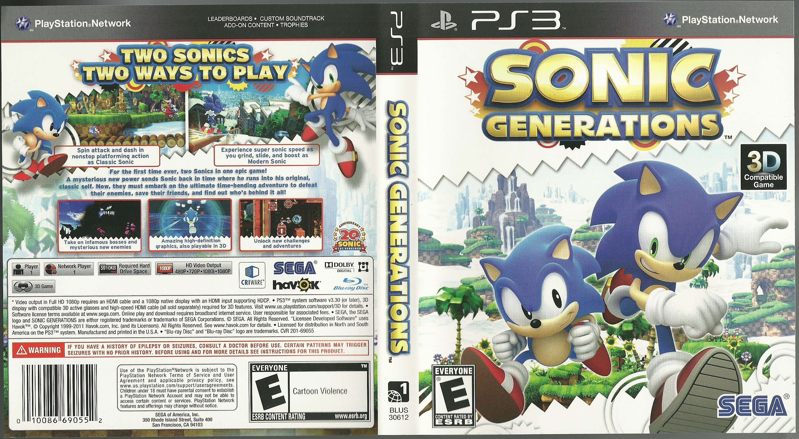 Sonic Games For Ps3 : File sonic generations ps box art g retro