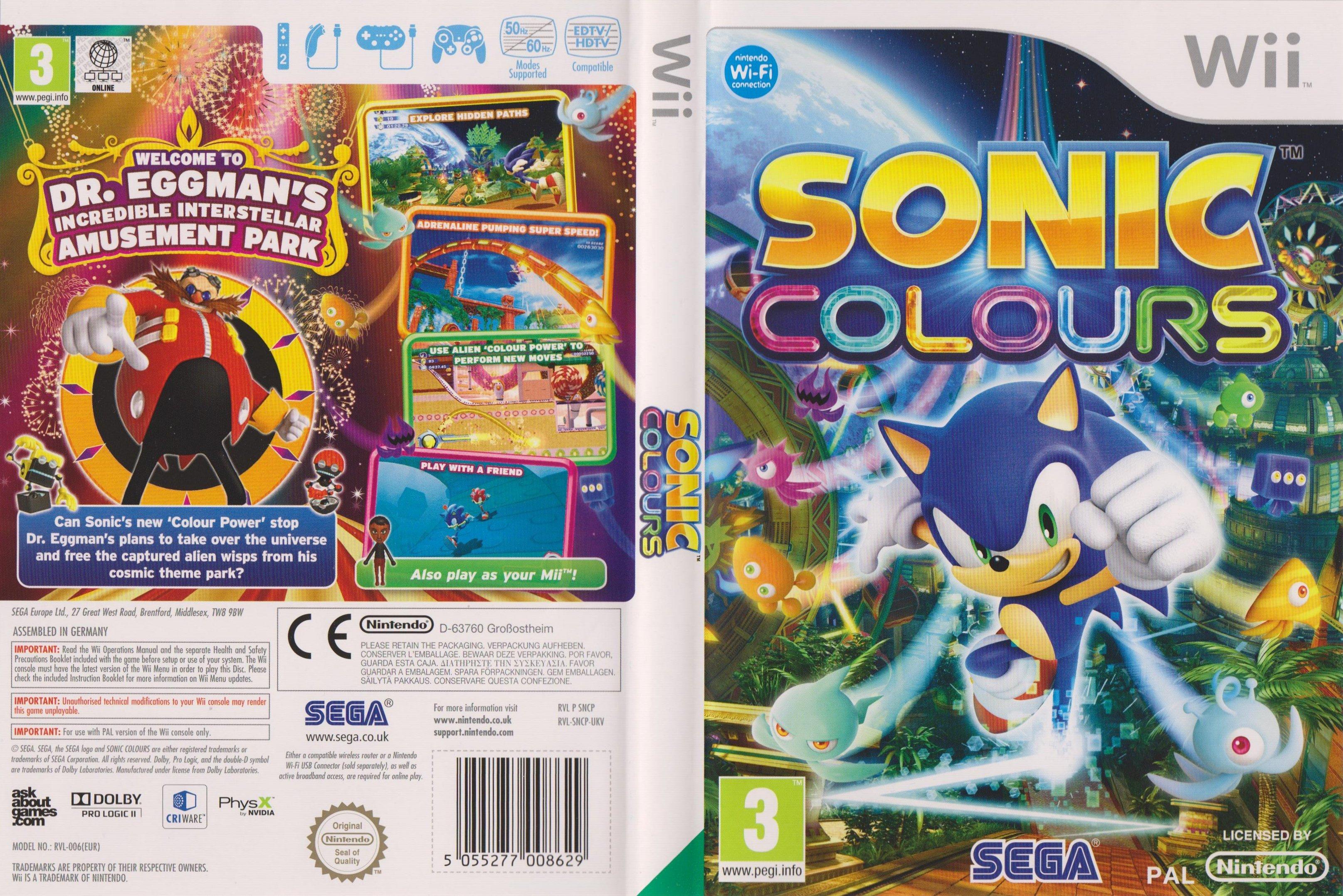 Sonic Colours Wii  Sonic Retro