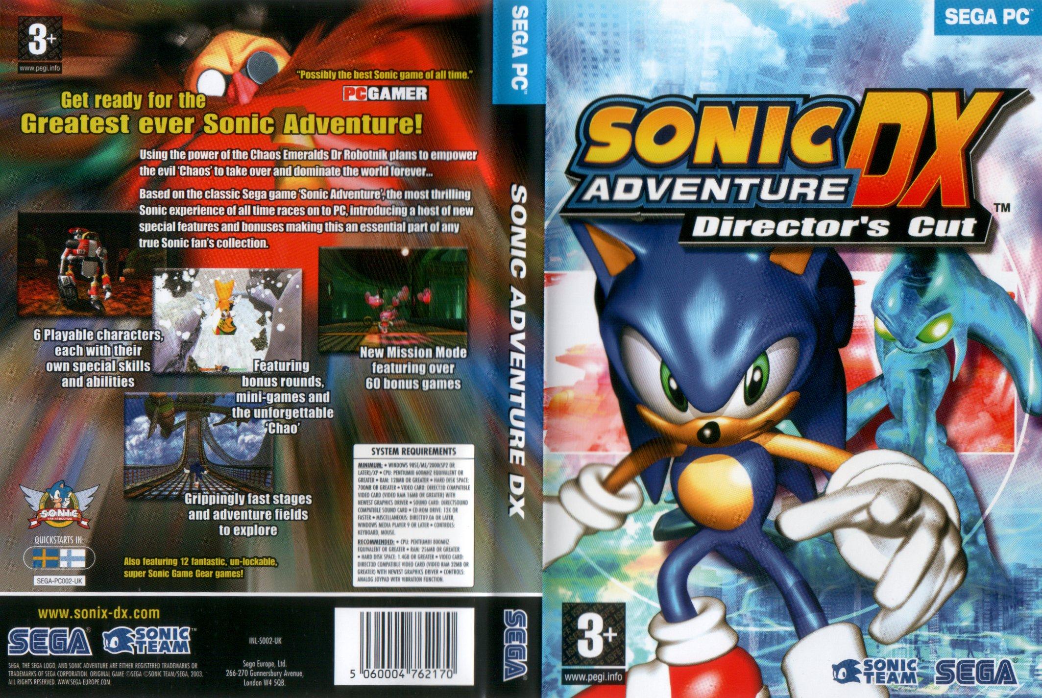 File:Sadx-pc-eu-box jpg - Sonic Retro