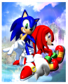 SonicAdventure Art PromotionalSonicKnuckles.png