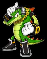 Vector The Crocodile Sonic Retro