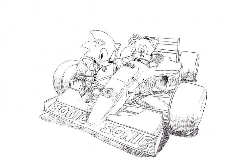 File:SonicTails Racecar Sketch 3.jpeg