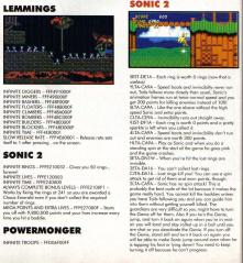 <b>Cheat Codes</b> - <b>Sonic</b> the Hedgehog <b>2</b> (Megatech) - <b>Sonic</b> Retro