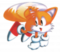 Tails adventures tails hovering.png