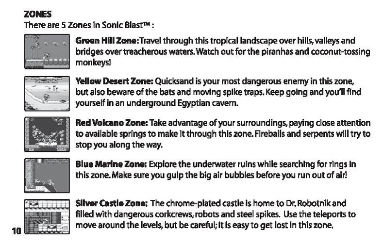 File:SonicBlast TV manual.pdf - Sonic Retro