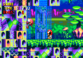 Chaotix 32X Comparison KnucklesClimb.png