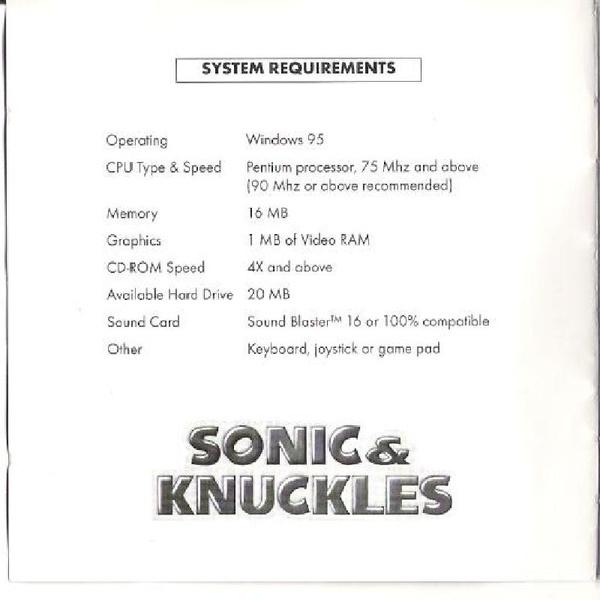 File:SKC PC EU manual.pdf - Sonic Retro