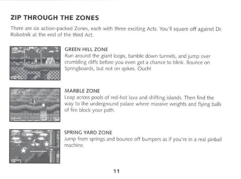 File:SonicGenesis GBA US manual.pdf - Sonic Retro