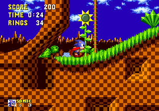 Green Hill Zone Sonic The Hedgehog 16 Bit Sonic Retro