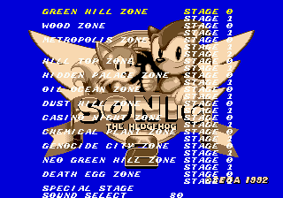 Sonic the Hedgehog 2 (Simon Wai prototype) - Comandos | Dicas