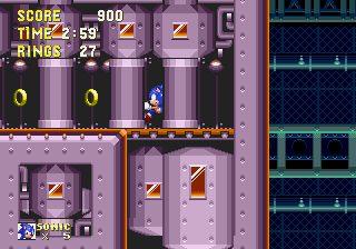 Sonic3&K MD Comparison FBZ GiantRing1Exit.png