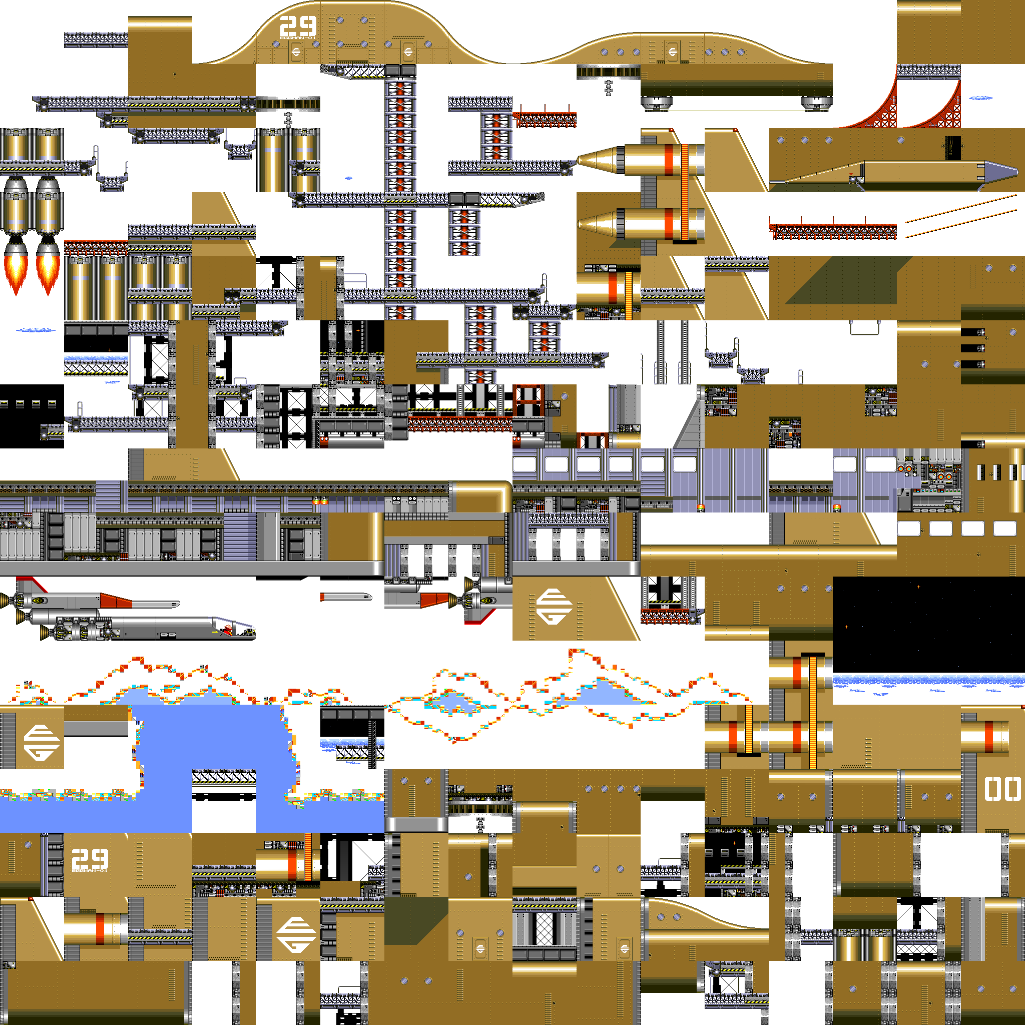 Sonic2 MD Map WFZ chunks.png