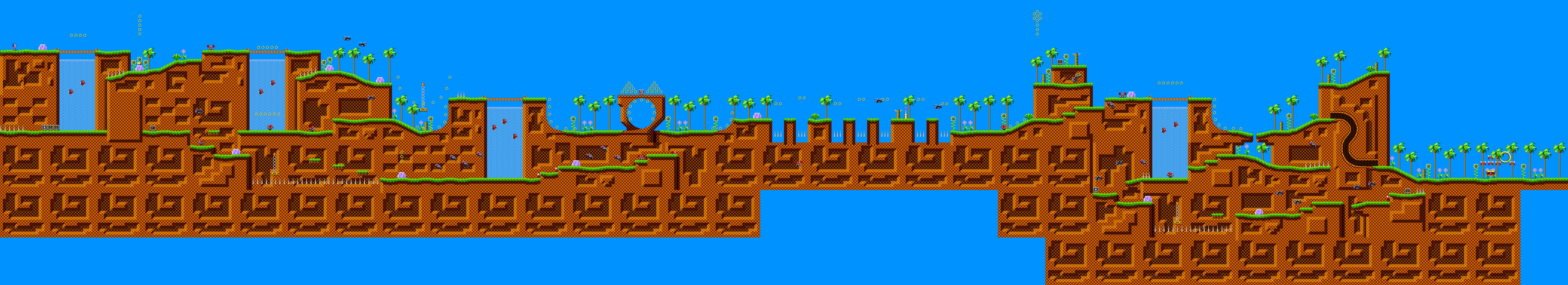 Green Hill Zone Sonic The Hedgehog 16 Bit Sonic Retro