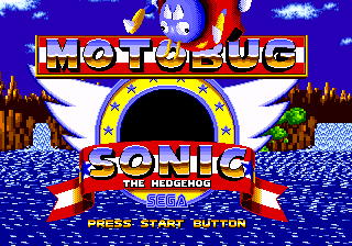 Motobug the Badnik in Sonic 1 title screen.png