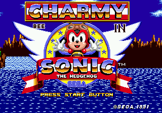 Charmy In Sonic 1 Title.png