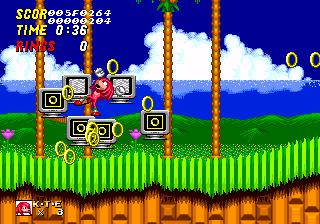 Knuckles The Echidna In Sonic The Hedgehog 2 Hidden Content Sonic Retro