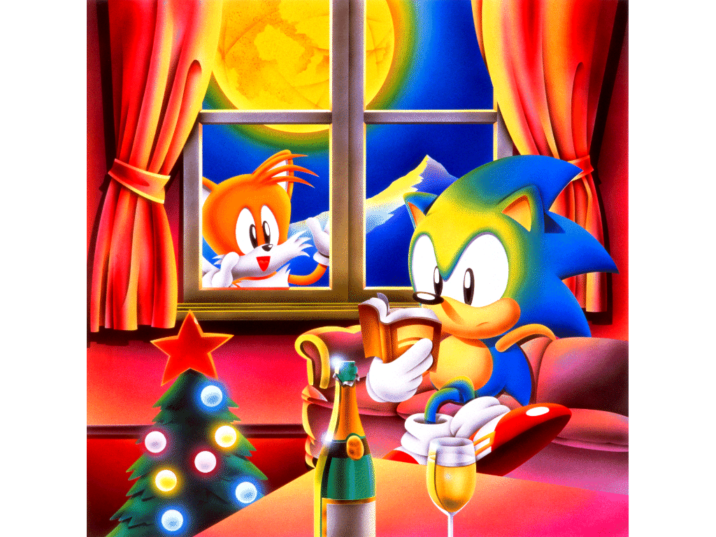 Sonic Christmas.On The Twelfth Day Of Christmas Retro Gave To Me Sonic