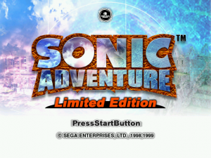 Sonic Adventure Limited Edition Title Screen.png