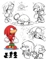 Sonic Mega Drive Knuckles sketches.jpg