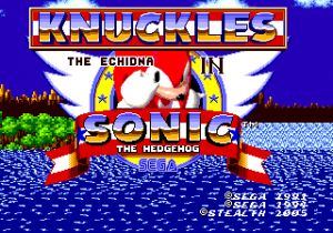 KnucklesInSonic1 MD Title.png