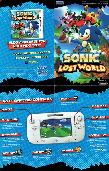Filesonic Lost World Au Manualpdf Sonic Retro