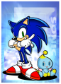 SonicAdventure Art PromotionalSonicChao.png