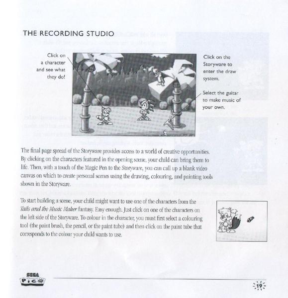 File:TailsMusicMaker Pico UK manual pdf - Sonic Retro