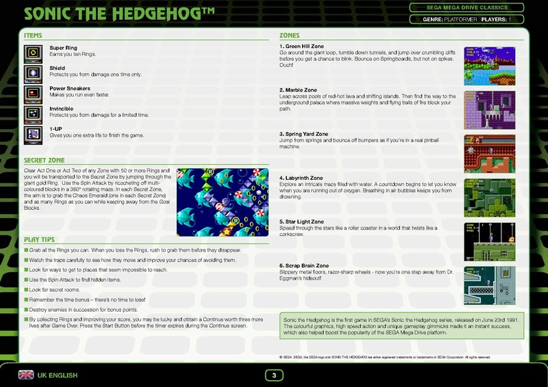 File:Sonic1 Steam digital manual.pdf - Sonic Retro