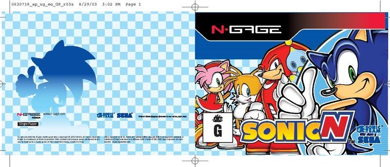 File:SonicN NGage AU digital manual.pdf - Sonic Retro
